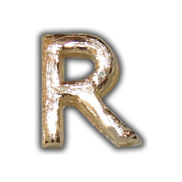 """Wachsbuchstabe """"R"""" Gold-Modern Test"""