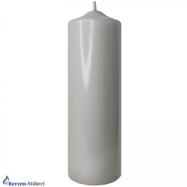 Tischkerze-Bastelkerze-Silbergrau Test