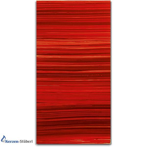 Verzierwachsplatte Rot gestreift - Rottöne Test