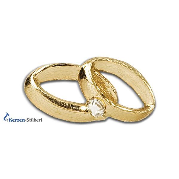 """""""Verzierornamente"""" Goldene Ringe mit Stein"""
