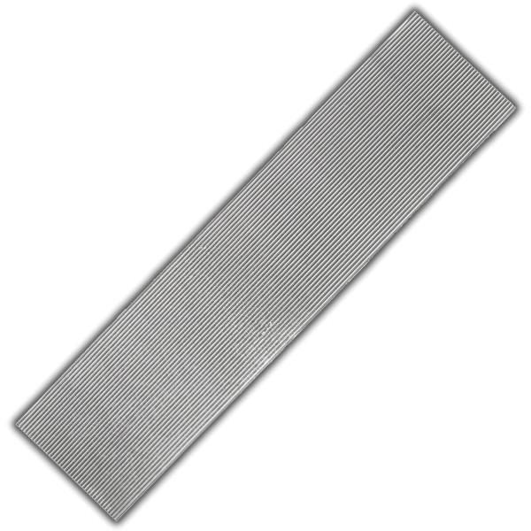 Schmale Verzierwachs-Flachstreifen Silber