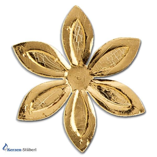 Verzierwachs Ornamente Gold Blumen