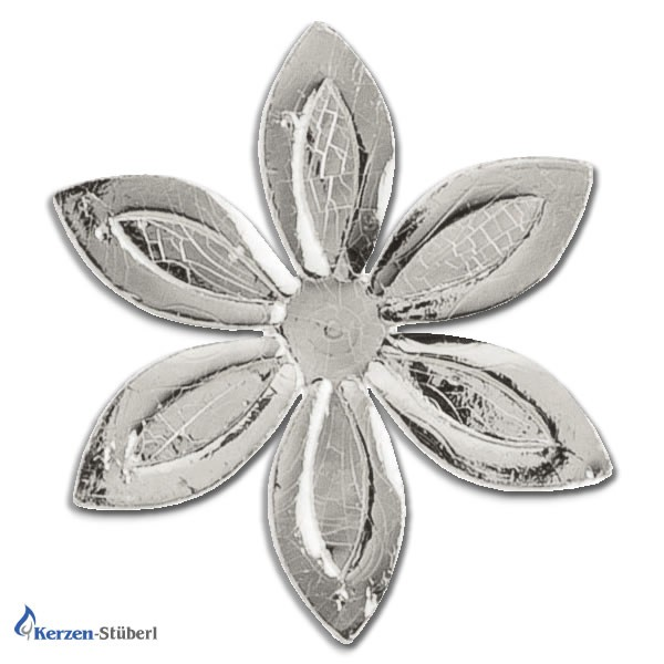 Verzierwachs Ornamente Silber Blumen