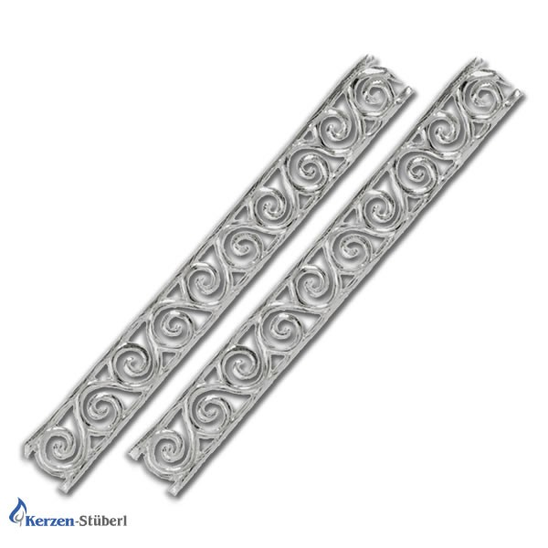 Wachsbordüre-Ornamentstreifen-Silber