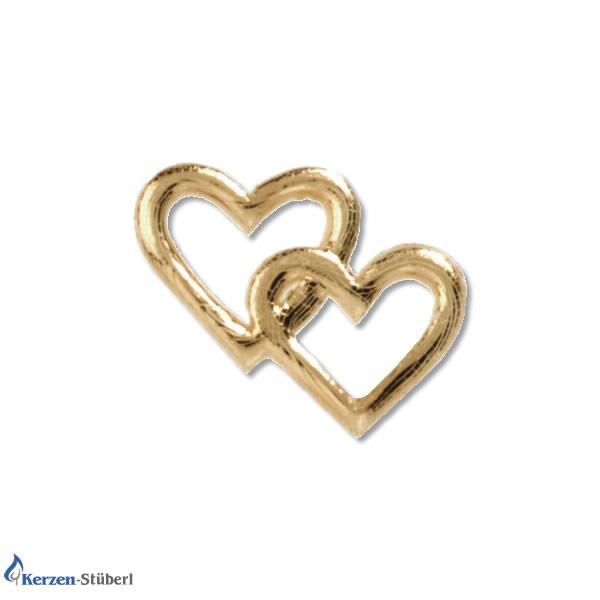 Verzierwachsornamente Goldene Herzchen Test