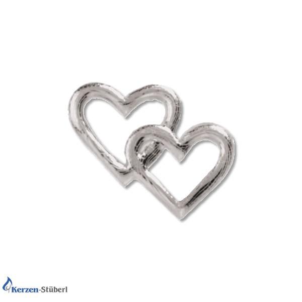 Verzierwachsornamente Silberne Herzchen Test