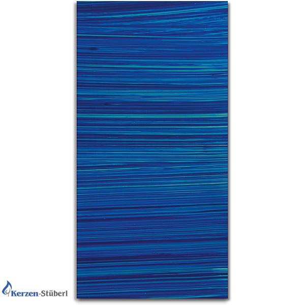 Verzierwachsplatte Blau gestreift - Blautöne