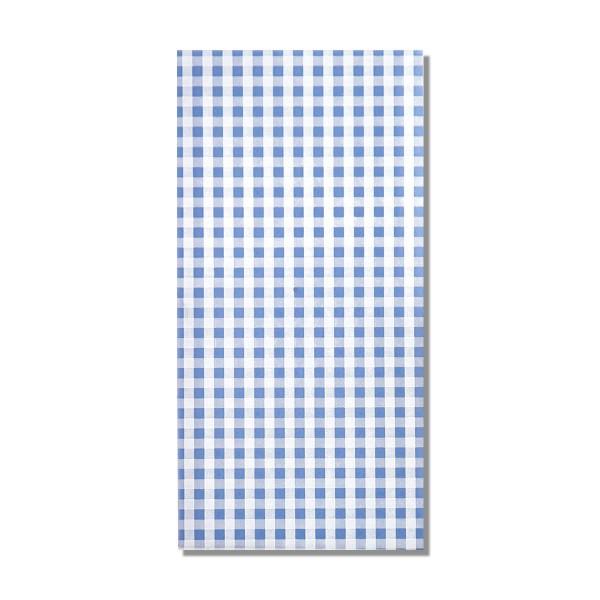 Kerzen Verzierwachsplatte Karo Hellblau-Weiß