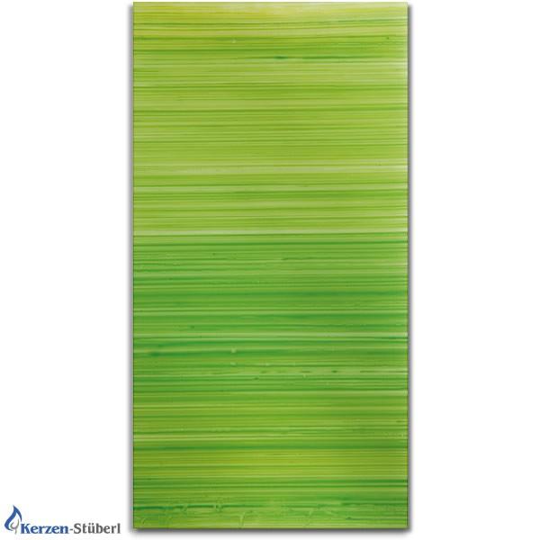Verzierwachsplatte Grün gestreift - Grüntöne Test