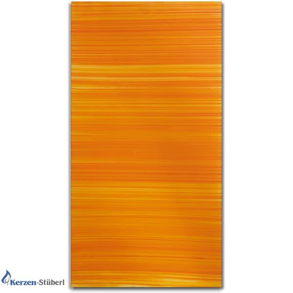 Verzierwachsplatte Orange gestreift - Orangetöne