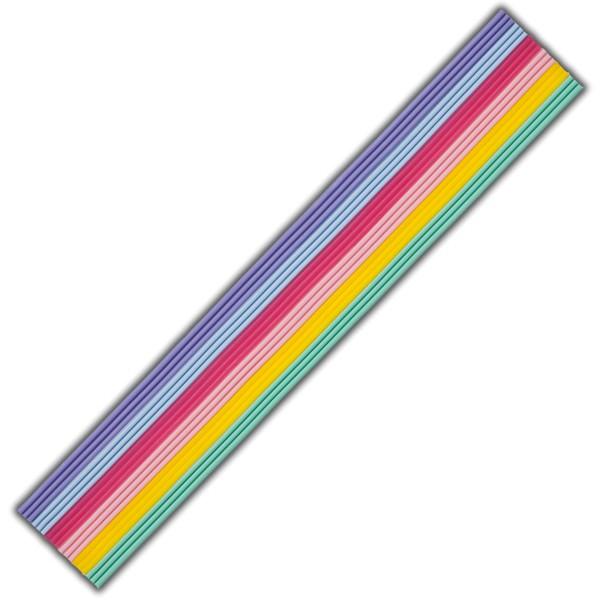 Verzierwachsstreifen-Regenbpgen-Pastell