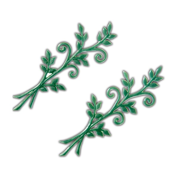 Verzierwachsornament Grüne Zweige
