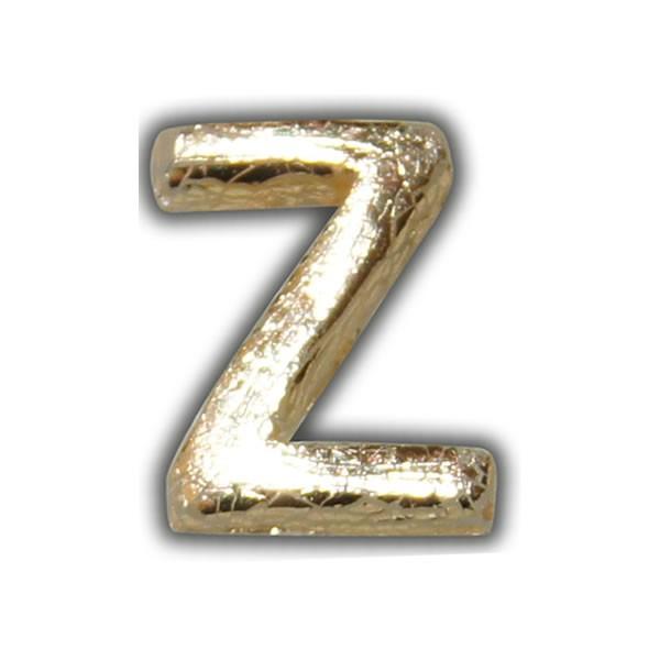 """Wachsbuchstabe """"Z"""" Gold-Modern"""