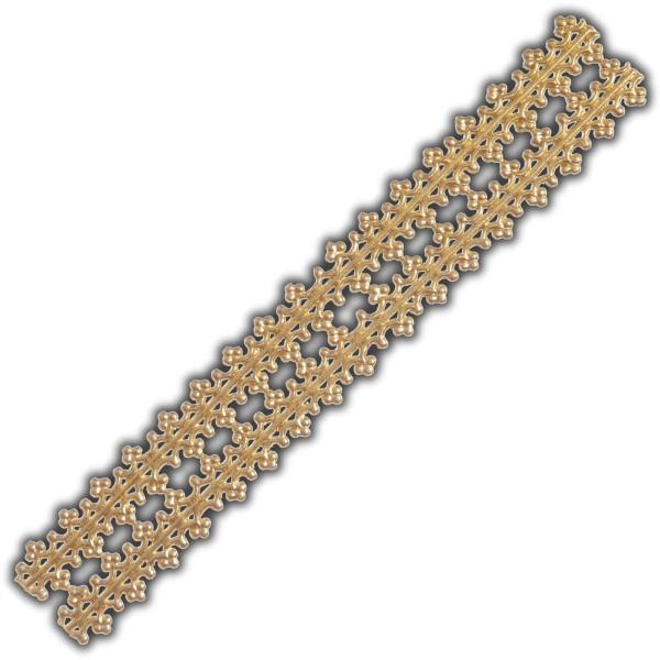 Verzierwachsstreifen-Borte-Gold