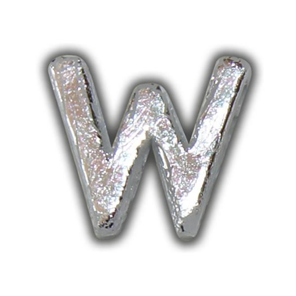 """Wachsbuchstabe """"W"""" in Silber Test"""