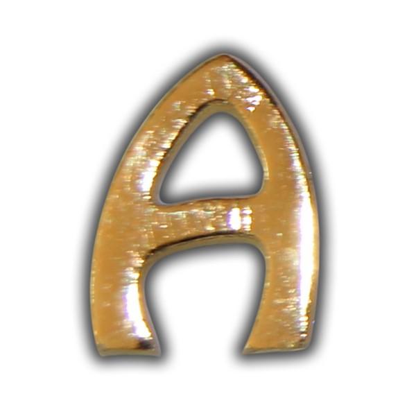 """Wachsbuchstabe """"A"""" Gold"""