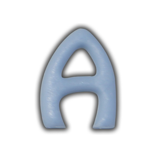 """Wachsbuchstabe """"A"""" Hellblau-Modern Test"""