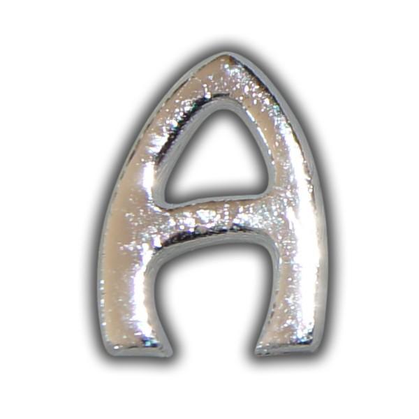 """Wachsbuchstabe """"A"""" Silber"""
