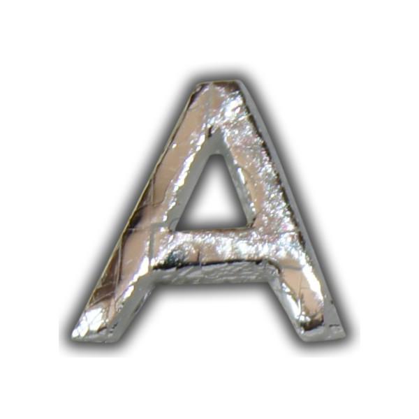 """Wachsbuchstabe """"A"""" Silber-Modern Test"""