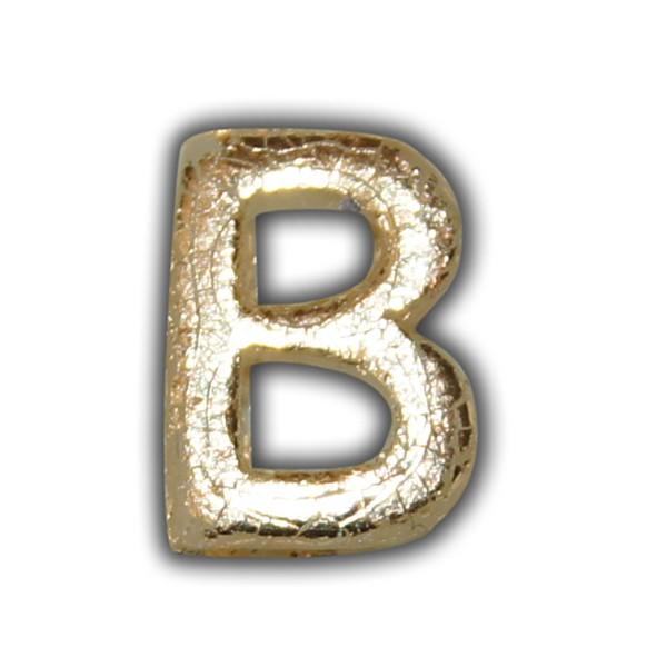 """Wachsbuchstabe """"B"""" Gold-Klassische Schrift"""