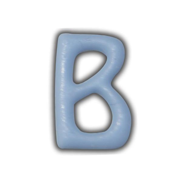 "Wachsbuchstabe ""B"" Hellblau-Trendig Test"