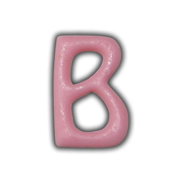 """Wachsbuchstabe """"B"""" Rosa-Modern Test"""