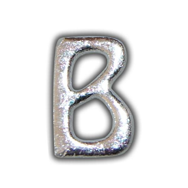 """Wachsbuchstabe """"B"""" Silber-Moderne Schriftart Test"""