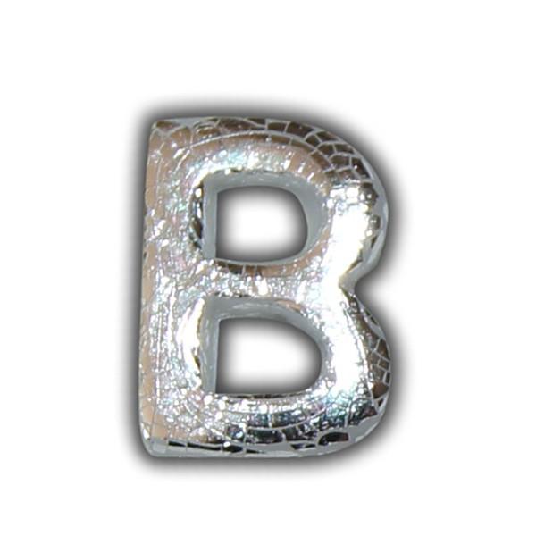 """Wachsbuchstabe """"B"""" Silber-Klassische Schrift"""