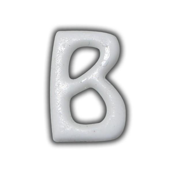 """Wachsbuchstaben """"B"""" Weiss für Vintage Kerzen Test"""