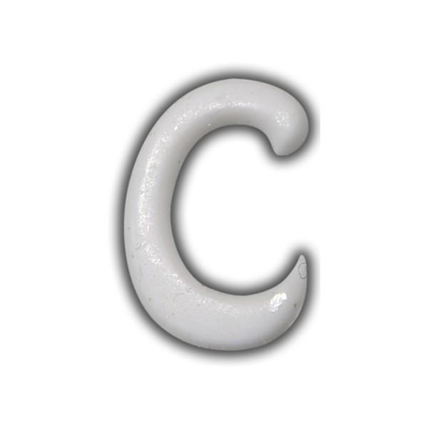 """Wachsbuchstaben """"C"""" Weiss für Vintage Kerzen Test"""