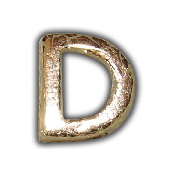"""Wachsbuchstabe """"D"""" Gold-Modern Test"""