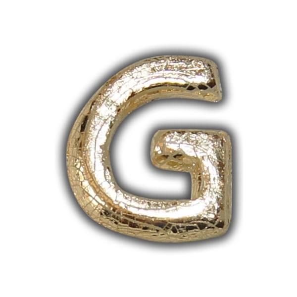 """Wachsbuchstabe """"G"""" Gold-Modern Test"""