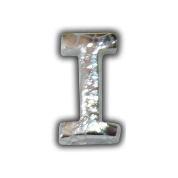 kerze beschriften Wachsbuchstabe H in Silber