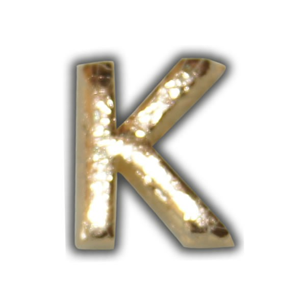 """Wachsbuchstabe """"K"""" Gold-Modern Test"""