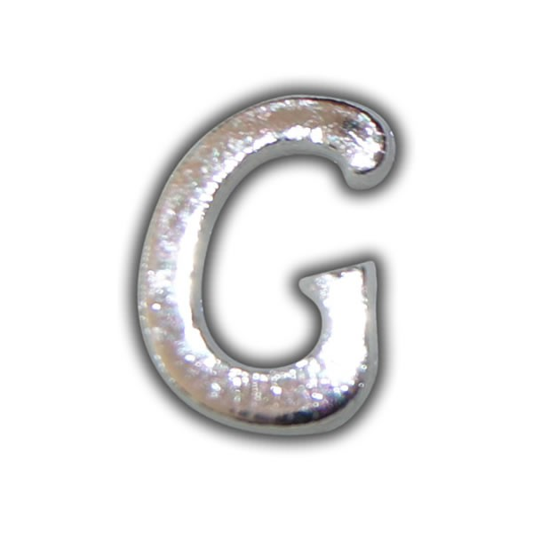 """Wachsbuchstabe """"G"""" Silber-Moderne Schriftart"""