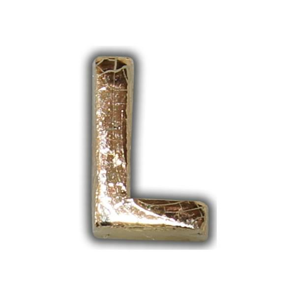 """Wachsbuchstabe """"L"""" Gold-Modern Test"""