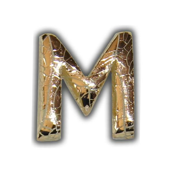 """Wachsbuchstabe """"M"""" Gold-Modern Test"""