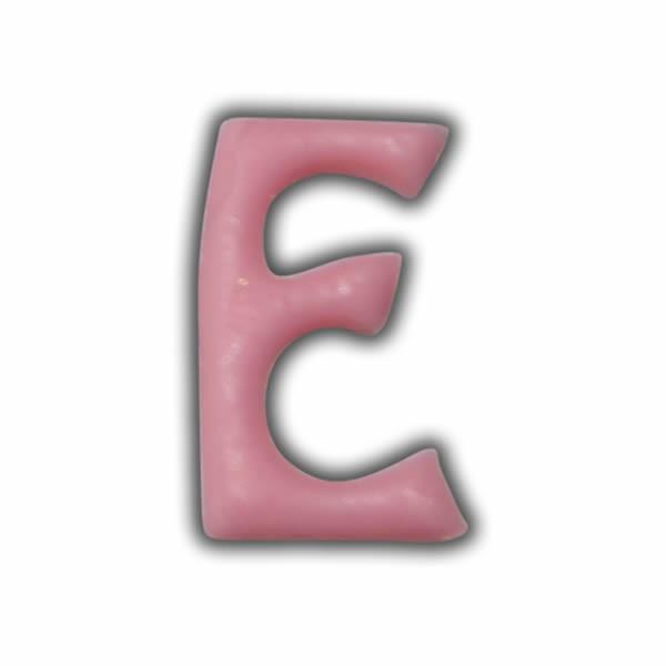 """Einzelne Wachsbuchstaben """"D"""" Rosa"""
