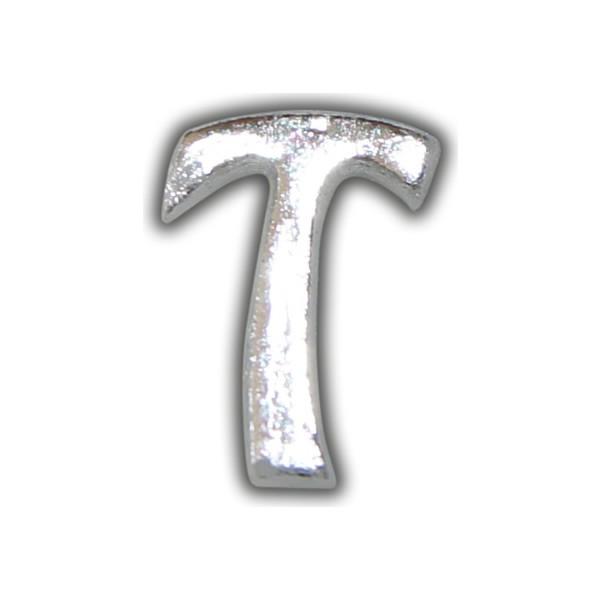 """Kerzenbeschriftung-Wachsbuchstabe """"T"""" Silber-Moderne Schriftart"""