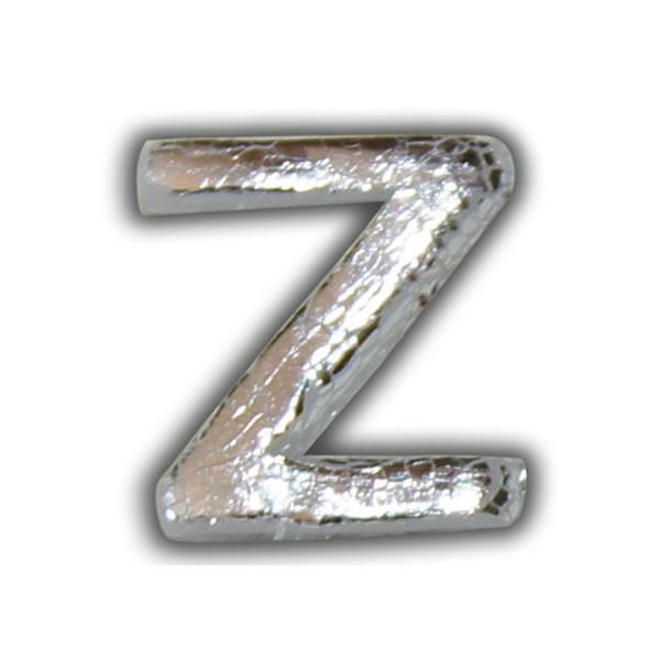 """Wachsbuchstabe """"Z"""" in Silber Test"""