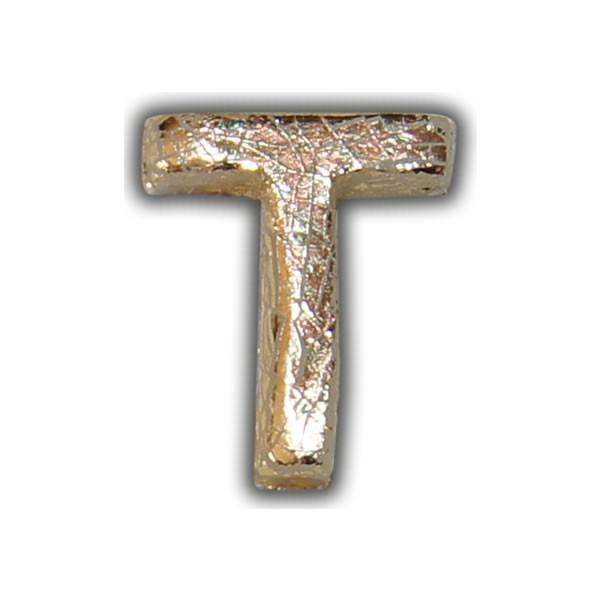 """Wachsbuchstabe """"T"""" Gold-Modern Test"""