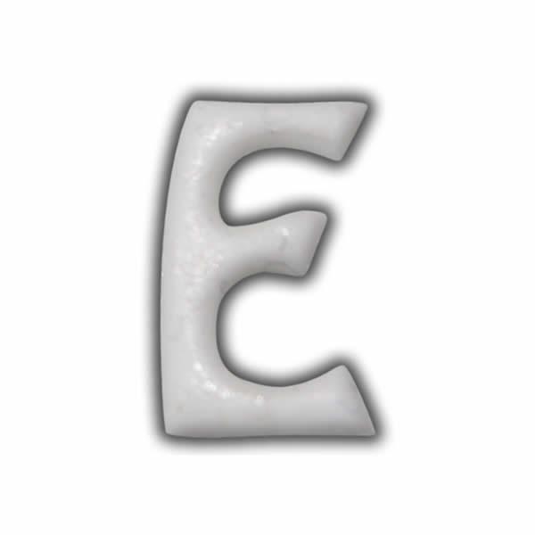 """Wachsbuchstabe """"E"""" Weiss für Vintage Kerzen Test"""