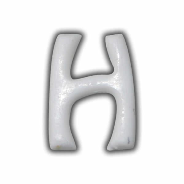 """Wachsbuchstabe """"H"""" Weiss für Vintage Kerzen Test"""