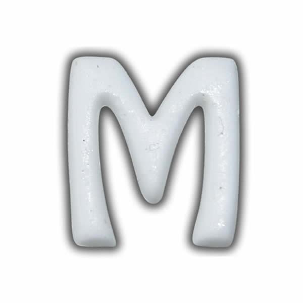 """Wachsbuchstabe """"M"""" Weiss für Vintage Kerzen Test"""