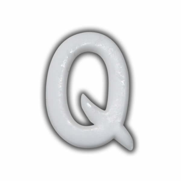 """Wachsbuchstabe """"Q"""" Weiss für Vintage Kerzen Test"""