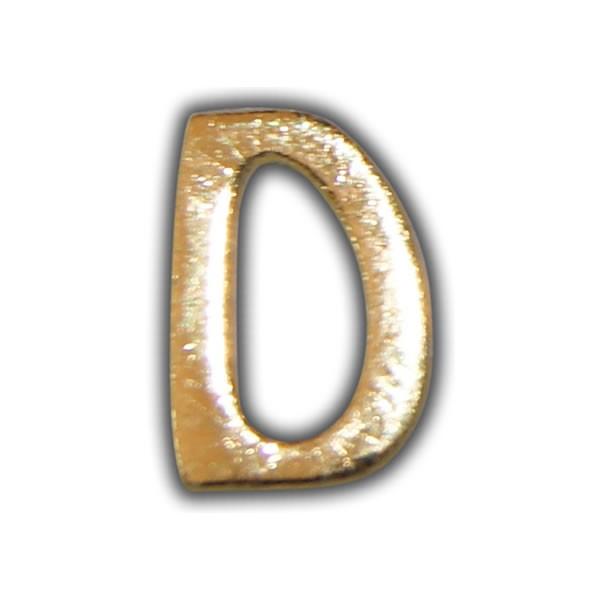 """Wachsbuchstabe """"D"""" Gold zum Kerzen beschriften Test"""