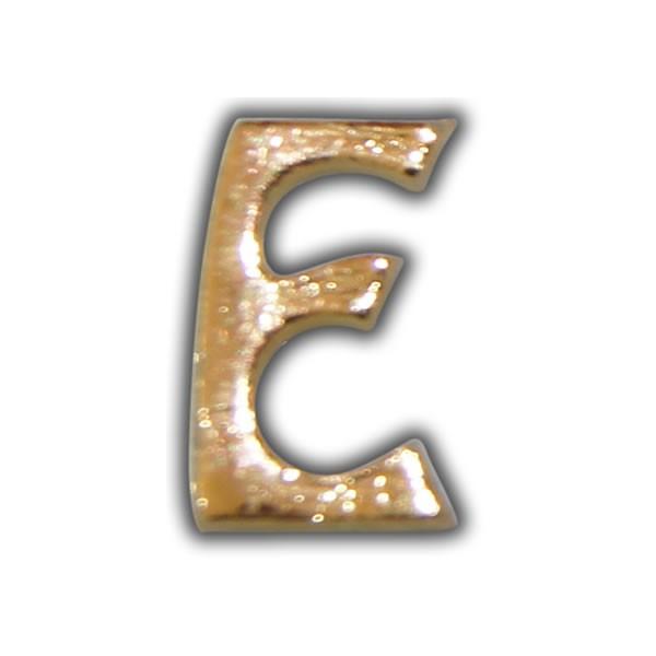"""Wachsbuchstabe """"E"""" Gold zum Kerzen beschriften Test"""