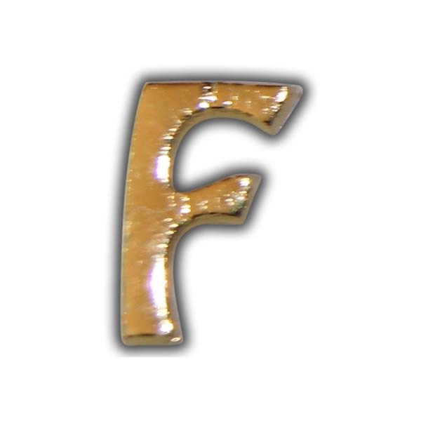 """Wachsbuchstabe """"F"""" Gold zum Kerzen beschriften Test"""
