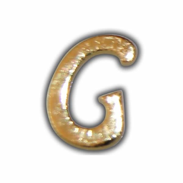 """Wachsbuchstabe """"G"""" Gold zum Kerzen beschriften"""