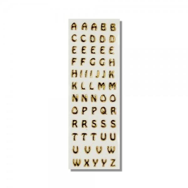 Wachsbuchstaben-Gold Test